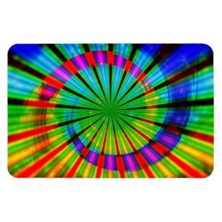 Tie-Dye Groovy Rainbow Rectangle Magnet