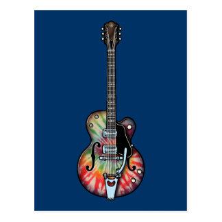 Tie Dye Guitar Postcard