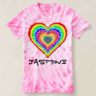 Tie Dye Heart Shirt-Customize it! T-Shirt