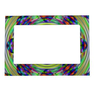 Tie Dye Hippie Kaleidoscope Swirls Magnetic Picture Frame