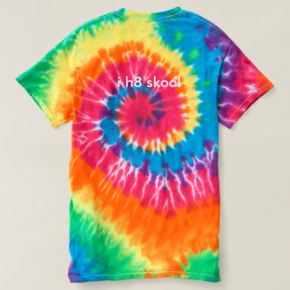 "Tie-dye ""i h8 skool"" T-Shirt"