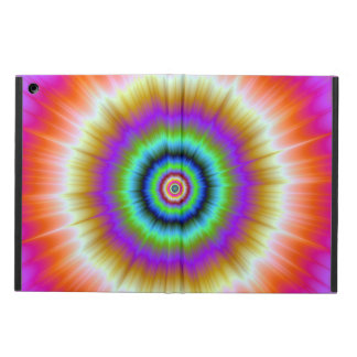 Tie-Dye in Violet Red and Green iPad Air Covers
