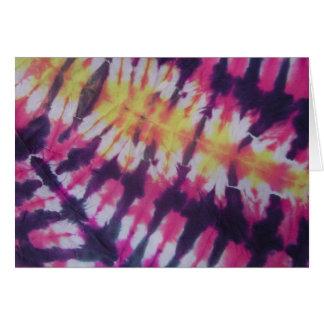 Tie-Dye Jazz Card