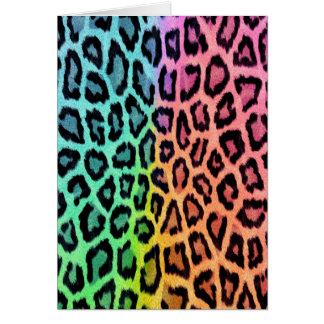 Tie Dye Leopard Print Greeting Cards