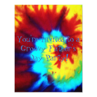 Tie Dye Look Father's Day Party Invitation