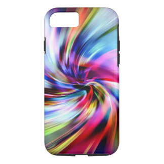 Tie Dye Multicolor Rainbow Electronic Swirls iPhone 7 Case