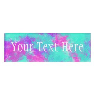 Tie Dye Name Tags