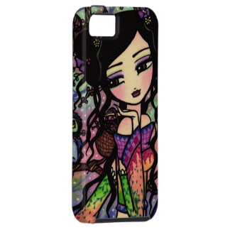 Tie Dye Owl Branches Asian Mermaid Art iPhone Case Case For The iPhone 5