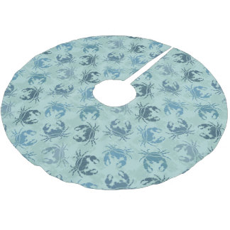 Tie Dye Pattern Of Crabs Brushed Polyester Tree Skirt