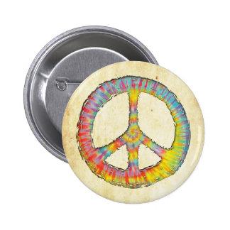 Tie-Dye Peace 713 6 Cm Round Badge