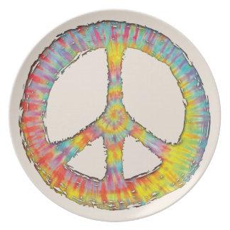 Tie-Dye Peace 713 Plate