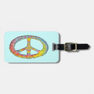 Tie-Dye Peace 713 Tag For Luggage