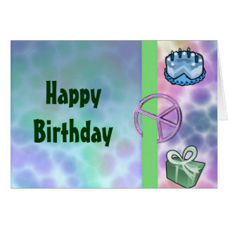 Tie Dye Peace Birthday Card