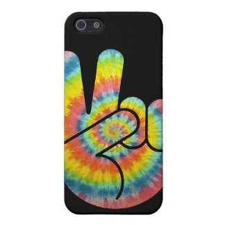 Tie Dye Peace Hand Case For The iPhone 5