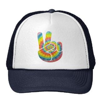Tie Dye Peace Hand Trucker Hat