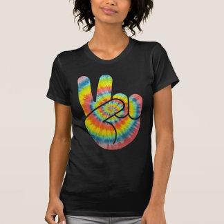 Tie Dye Peace Hand Tshirts