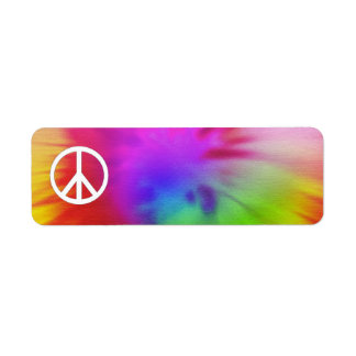 Tie Dye Peace Label Return Address Label