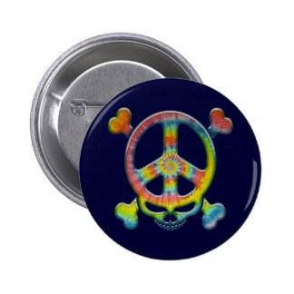 Tie-Dye Peace Pirate 6 Cm Round Badge