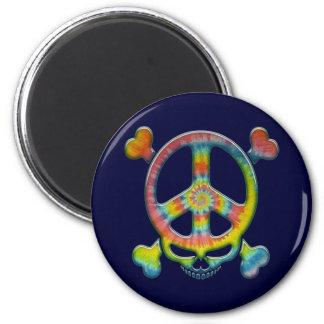 Tie-Dye Peace Pirate 6 Cm Round Magnet