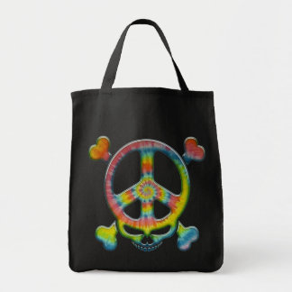 Tie-Dye Peace Pirate Canvas Bag