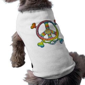 Tie-Dye Peace Pirate Dog Tee Shirt