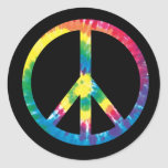 Tie dye peace sign 2 stickers