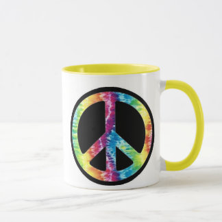 Tie Dye Peace Sign mug