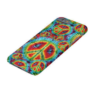 Tie Dye Peace Signs Barely There iPhone 6 Case