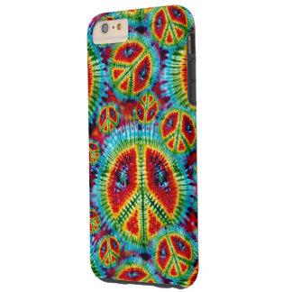 Tie Dye Peace Signs Tough iPhone 6 Plus Case