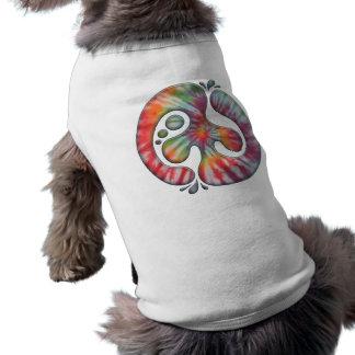 Tie-Dye Peace Spill Dog T Shirt