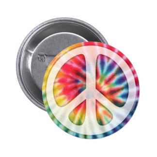 Tie-Dye Peace Symbol 6 Cm Round Badge