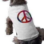 Tie Dye Peace Symbol Doggie Tee Shirt