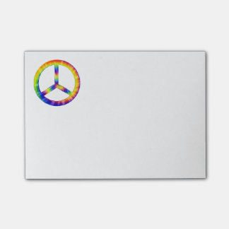 Tie-Dye Peace Symbol Post-It Notes