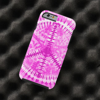 Tie Dye Pink Peace iPhone 6 Case