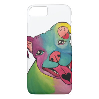 Tie-Dye Pit Bull iPhone 7, Barely There Case
