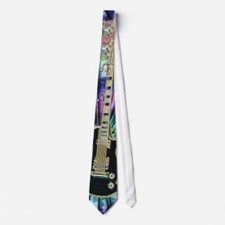 Tie-Dye Rainbow Electric Guitar Music Tie