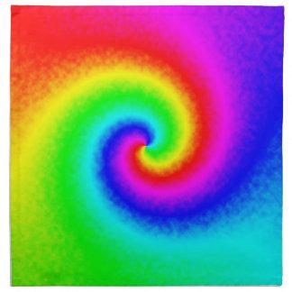 Tie-Dye Rainbow Swirl Cloth Napkins