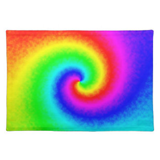 Tie-Dye Rainbow Swirl Cloth Placemat