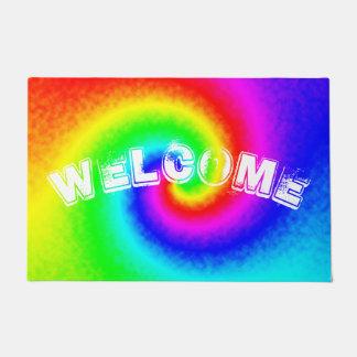 Tie-Dye Rainbow Swirl Customized Doormat