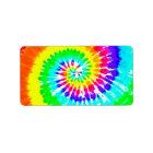 Tie Dye Rainbow Swirl Neon Rainbow Colours Pattern Label