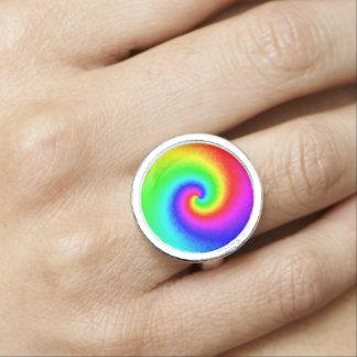 Tie-Dye Rainbow Swirl Ring