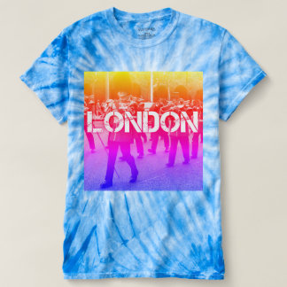 tie dye rainbow unique london print tee
