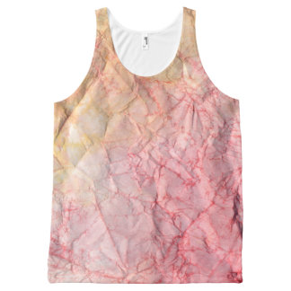 Tie Dye Red Chic All-Over Print Singlet