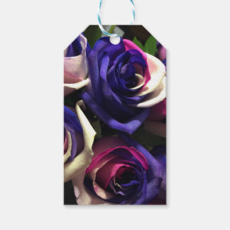 Tie Dye Roses: White, Pink, and Purple