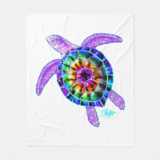 Tie Dye Sea Turtle Blanket