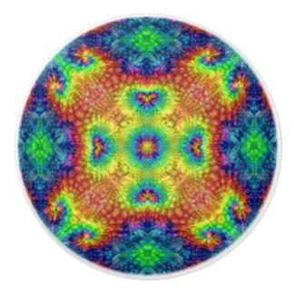 Tie Dye Sky Colorful Ceramic Knob