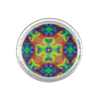 Tie Dye Sky Kaleidoscope  Custom Rings