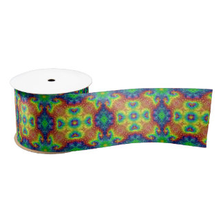 "Tie Dye Sky Two Kaleidoscope   Ribbon. 1.5"" or 3"" Satin Ribbon"