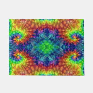Tie Dye Sky Vintage Kaleidoscope  Door Mat
