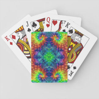 Tie Dye Sky Vintage Kaleidoscope  Playing Cards